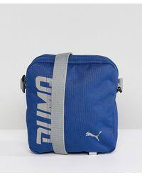 2c636f0488d1 PUMA - Pioneer Flight Bag In Blue 07471702 - Lyst