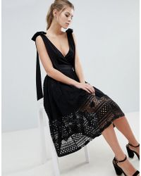 Oh My Love - Lace Midi Skirt - Lyst