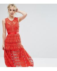 True Decadence - All Over Lace Prom Skater Dress - Lyst