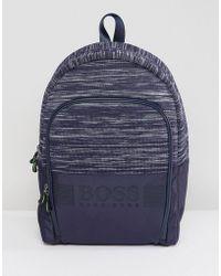BOSS - Boss Space Dye Backpack In Navy - Lyst