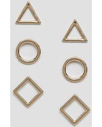 Nylon - 3 Pack Stud Earrings - Lyst