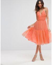 ASOS - Tulle Midi Prom Dress - Lyst
