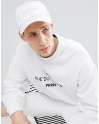 Hype - Logo Baseball Cap In White - Lyst