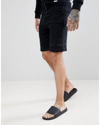 DIESEL - Logo Lounge Shorts Black - Lyst