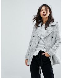 Abercrombie & Fitch - Double Breasted Wool Peacoat - Lyst