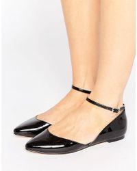 Faith - Ali Asymmetric Pointed Flat Shoes - Lyst