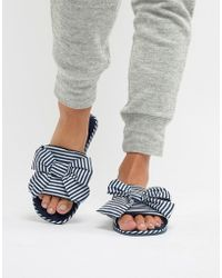 Truffle Collection - Bow Slide Slippers - Lyst