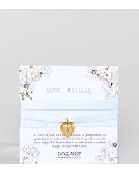 Dogeared - Bridal Something Blue Crystal Heart Wrap - Lyst