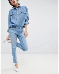 Esprit - Cropped Distressed Stretch Jeans - Lyst