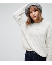 Reclaimed (vintage) - Inspired Sweater In Cable Knit - Lyst