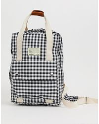Pull&Bear - Top Handle Back Pack In Gingham Print - Lyst