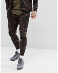 SIKSILK - Cropped Joggers In Camo - Lyst