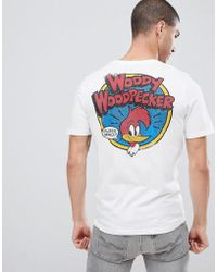 Only & Sons - T-shirt With Woody Woodpecker Backprint - Lyst