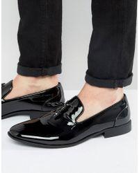 ASOS - Design Vegan Friendly Tassel Loafers In Black Patent - Lyst