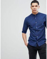 Jack & Jones - Premium Slim Fit Grandad Collar Shirt - Lyst