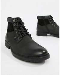 New Look - Boots With Zip Detail In Black - Lyst