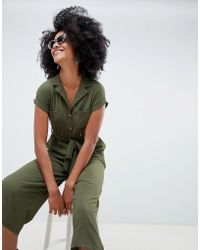 New Look - Utility Shirt Jumpsuit - Lyst