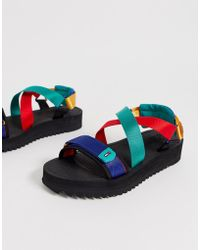 Tommy Hilfiger - Sandal With Bright Straps In Black - Lyst
