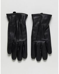 Jack & Jones - Leather Gloves - Lyst