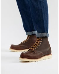 Red Wing - 6 Inch Classic Moc Toe Boots In Briar Oil Slick Leather - Lyst