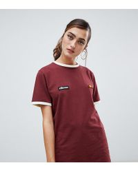 Ellesse - Relaxed Ringer T-shirt With Chest Logo - Lyst