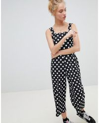 Daisy Street - Cropped Jumpsuit In Polka Dot - Lyst
