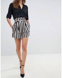 ASOS - Tailored Soft Shorts With Paperbag Waist In Stripe - Lyst