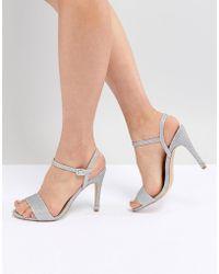 New Look - Glitter Bling Heel Sandal - Lyst