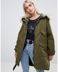 ASOS - Oversized Parka With Quilted Liner - Lyst