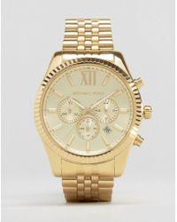 Michael Kors - Mk8281 Lexington Gold Chronograph Watch - Lyst