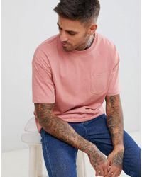 Pull&Bear - Join Life T-shirt In Pink With Pocket - Lyst