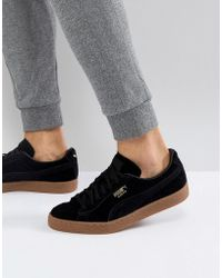 PUMA - Suede Gum Sole Sneakers In Black 36324221 - Lyst