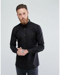 HUGO - Hugo Extra Slim Fit Poplin Shirt In Black - Lyst