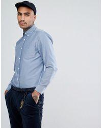 Aquascutum - Bevan Crest Logo Pocket Button Down Oxford Shirt In Blue - Lyst
