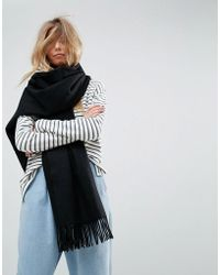 ASOS - Long Oversized Lambswool Scarf - Lyst