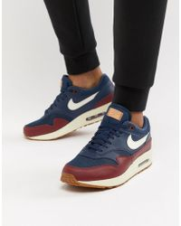 the best attitude 5b678 c129e Nike - Air Max 1 Trainers In Blue Ah8145-400 - Lyst