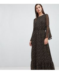 Y.A.S - Ditsy Floral Gathered Waist Midaxi Dress - Lyst 3814d4f9d
