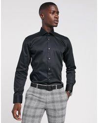 Ted Baker Черная Узкая Рубашка - Черный