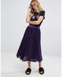 Monki | Pleated Midi Skirt | Lyst