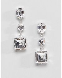 Krystal London - Swarovski Crystal Square Drop Swing Earrings - Lyst