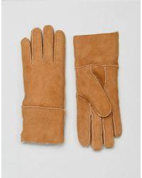 Barneys Originals - Barneys Real Sheep Skin Lined Gloves - Lyst