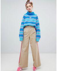Lazy Oaf - Pantalon large rayures damier - Lyst