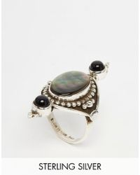 Regal Rose - Fable Sterling Silver Triple Stone Ring - Lyst