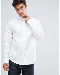 Hollister - Oxford Shirt Buttondown Slim Fit In White - Lyst