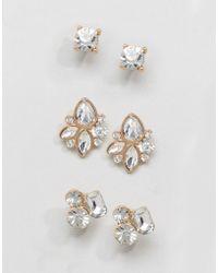 ALDO - Gem Cluster Multpack Earrings - Lyst