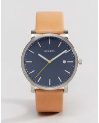 Skagen - Hagen Quartz Leather Watch In Tan 40mm - Tan - Lyst