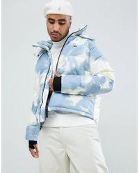 Lacoste L!ive - Lacoste L!ve Clouded Puffer Jacket In Blue - Lyst