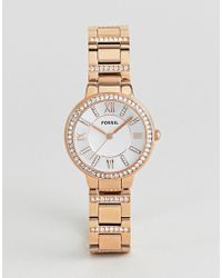 Fossil - Es3284 Virginia Bracelet Watch In Gold - Lyst