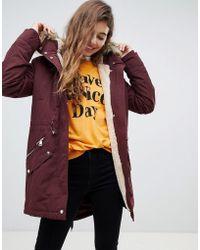 Pimkie - Faux Fur Hood Parka Jacket - Lyst