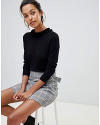 Oasis - Frill Neck Sweater In Black - Lyst